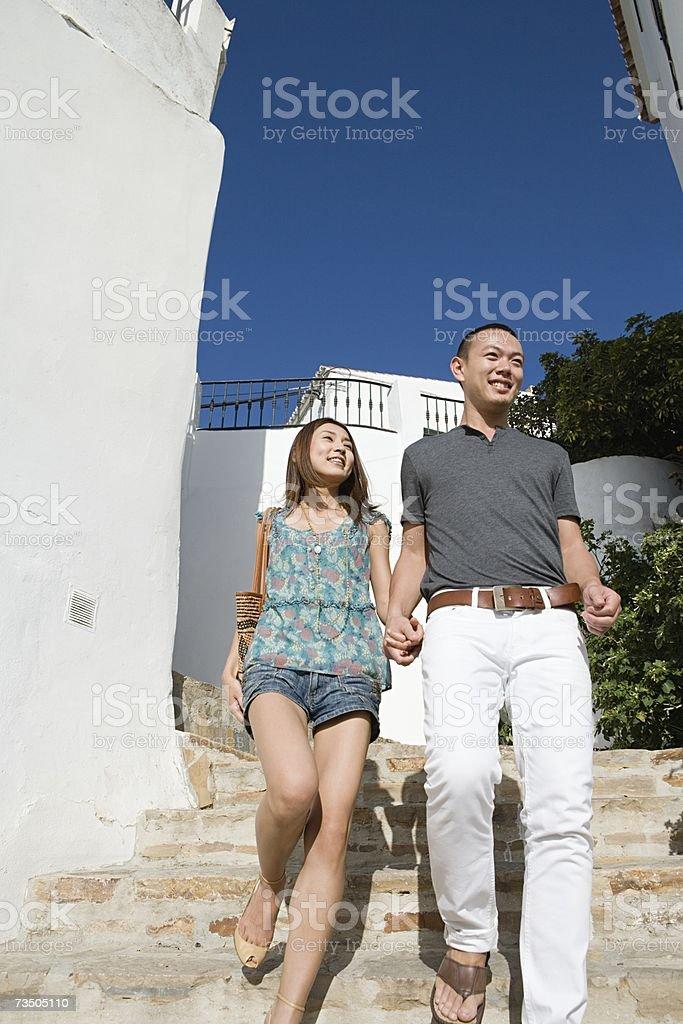 Pareja de turistas foto de stock libre de derechos