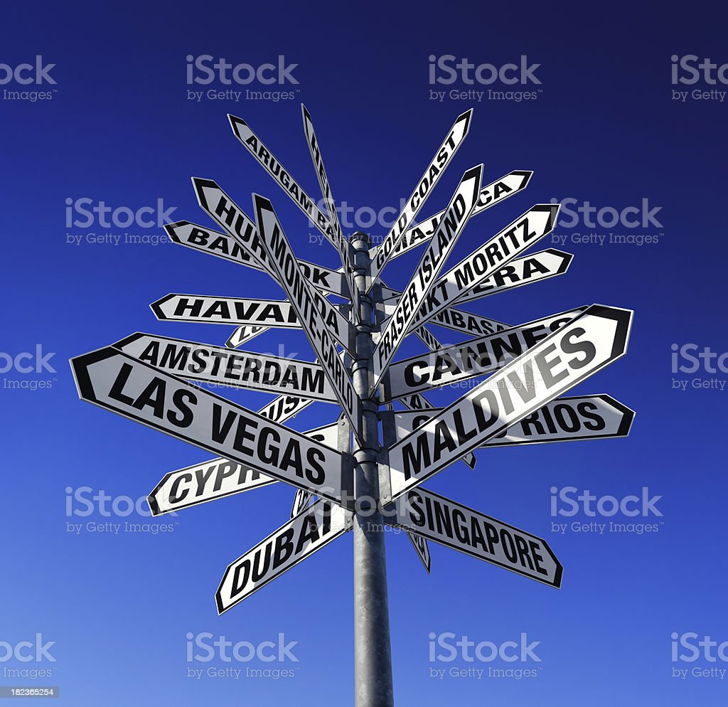 Tourist destinations stock photo
