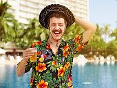 Tourist at a beach resort