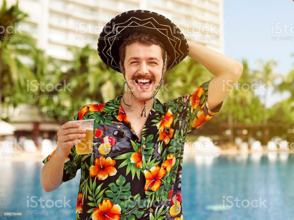 Touristes de boire de la bière - Photo