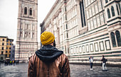 Tourist exploring Florence in Italy