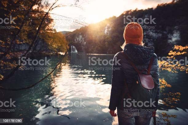Photo of Tourist exploring Plitvice Lakes National Park