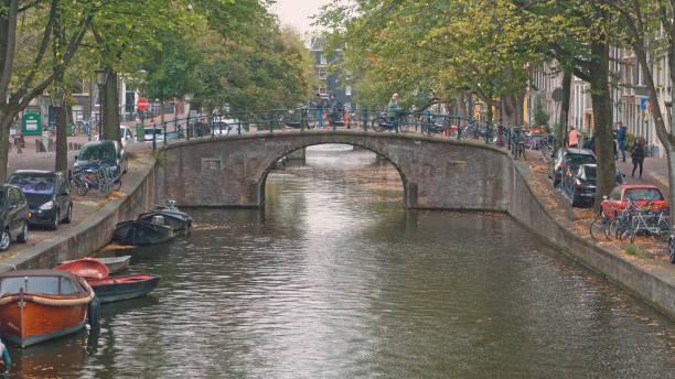 Touristischer Ort in Amsterdam Niederlande – Foto