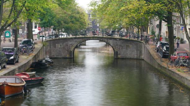 Touristischer berühmter Ort in Amsterdam Niederlande – Foto