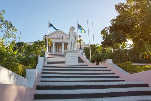 Tourist historical place in Nassau Bahamas stock photo