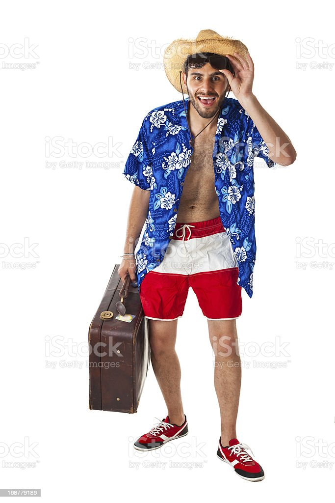 Tourist in action royalty-free stock photo
