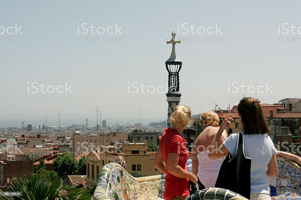 Tourist in Barcelona royalty-free stock photo
