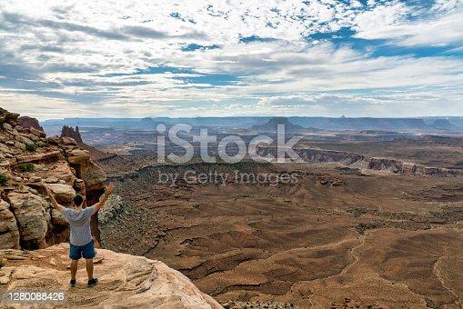 istock Tourist in Canyonlands National Park Utah 1280088426