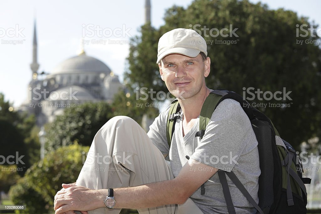Tourist in Istanbul royalty-free stock photo