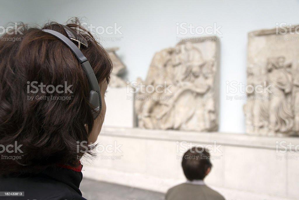 Tourist in Museum stock photo