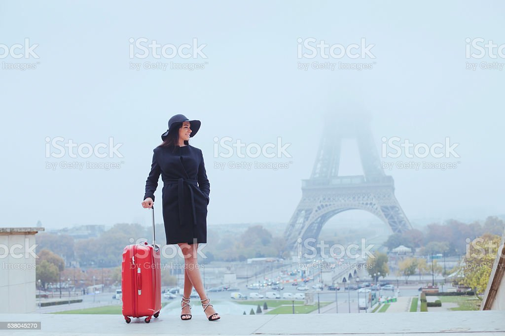 tourist in Paris, transit stock photo