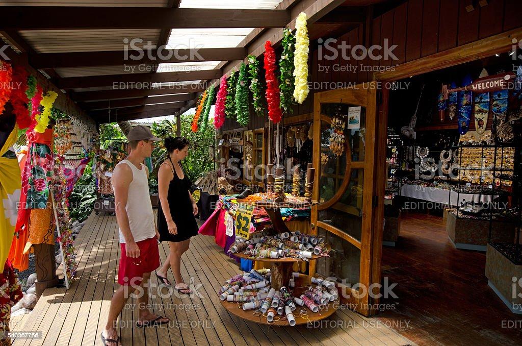 Tourist in Souvenir Shop stock photo