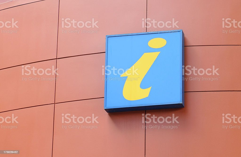 Tourist Information Sign royalty-free stock photo