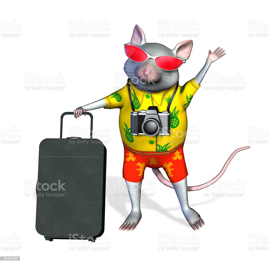 Tourist Mouse - with clipping path royalty-free stock photo
