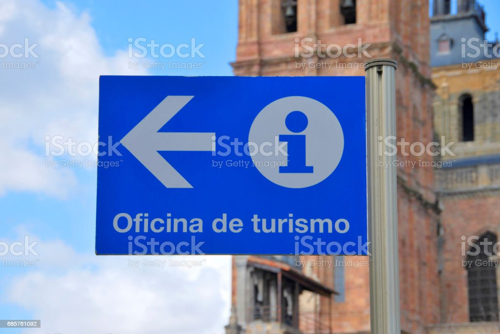 Tourist office sign stock photo