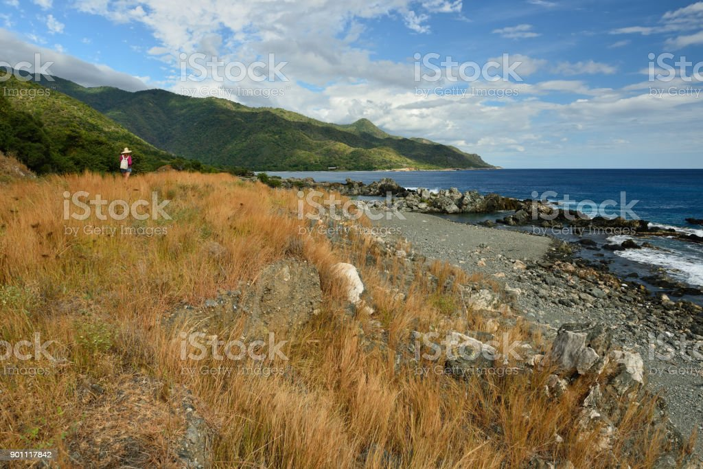 Tourist on Cuba stock photo