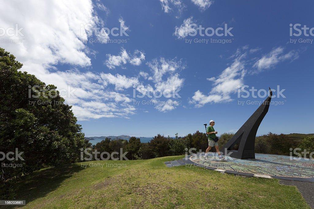 Tourist on Flagstaff Hill royalty-free stock photo