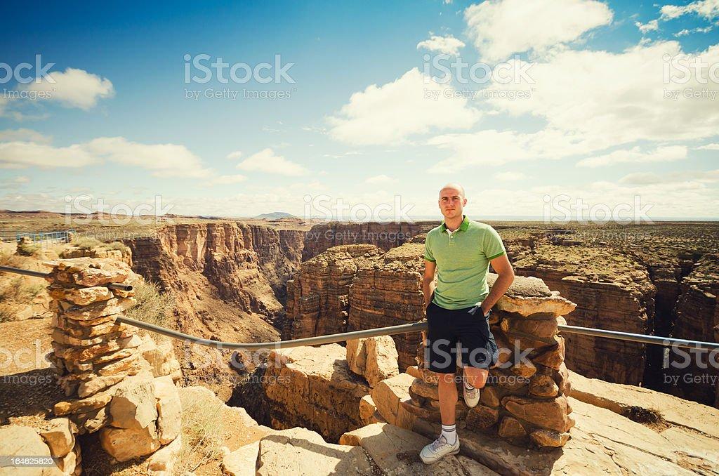 Tourist on the Grand Canyon National Park - Arizona royalty-free stock photo