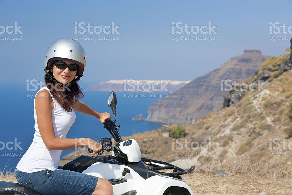 Tourist on the quad bike royalty-free stock photo
