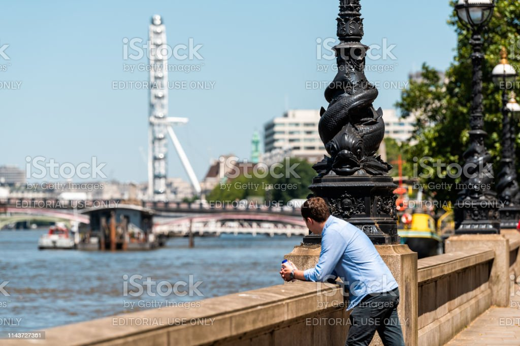 man appearing as far as something women london