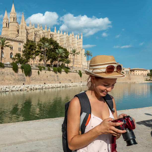 tourist photographer stock photo