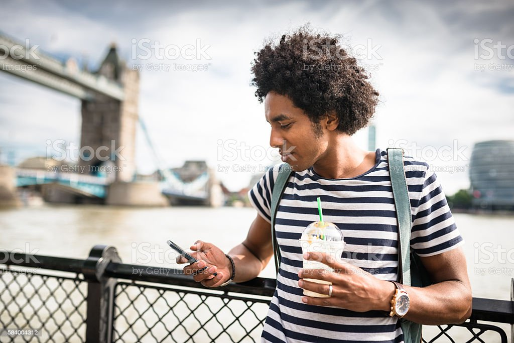 tourist realxing in london stock photo