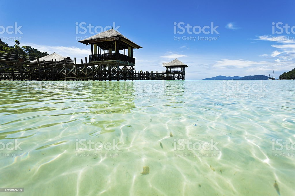 Tourist Resort and Tropical Islands royalty-free stock photo