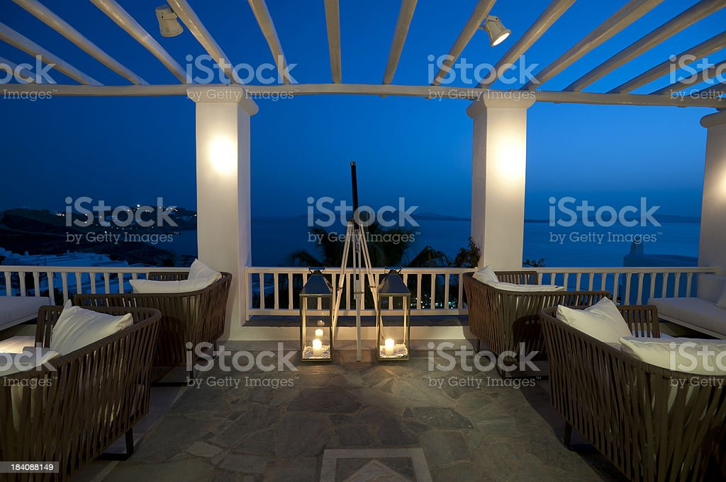 Tourist resort balcony bar​​​ foto