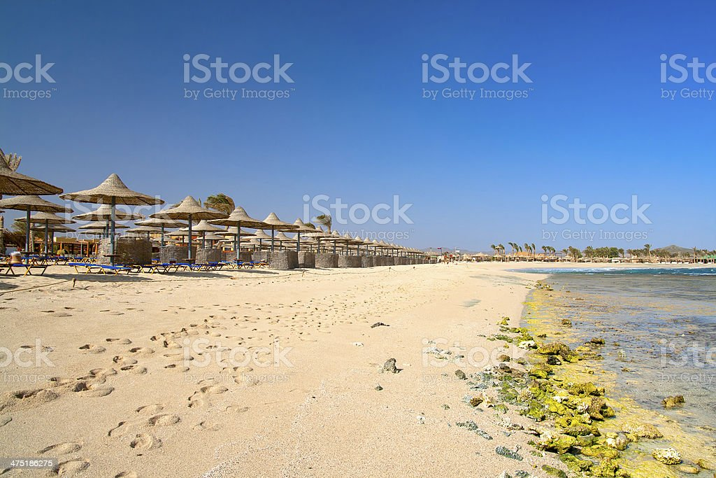 Tourist resort beach stock photo