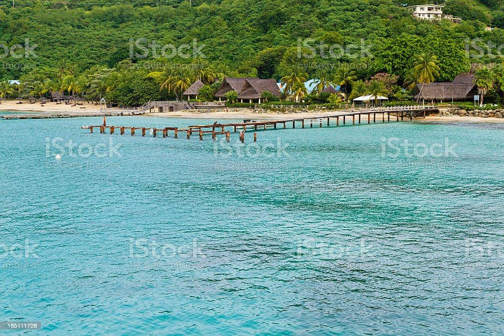 Tourist Resort, Canouan stock photo