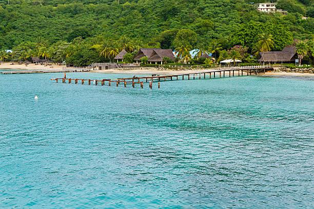 tourist resort, insel canouan - st. vincent und die grenadinen stock-fotos und bilder