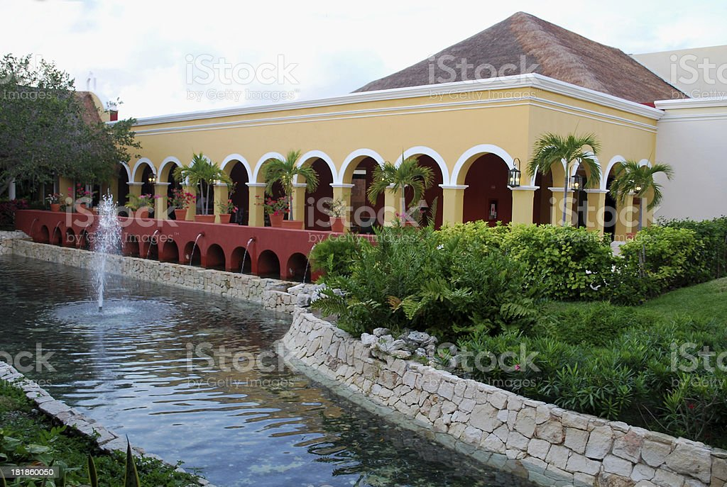 Tourist Resort in Mexico royalty-free stock photo