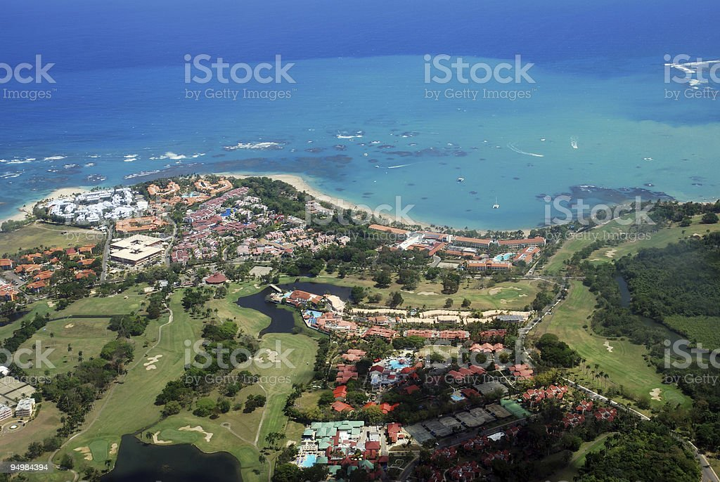Tourist resort- view from the sky royalty-free stock photo