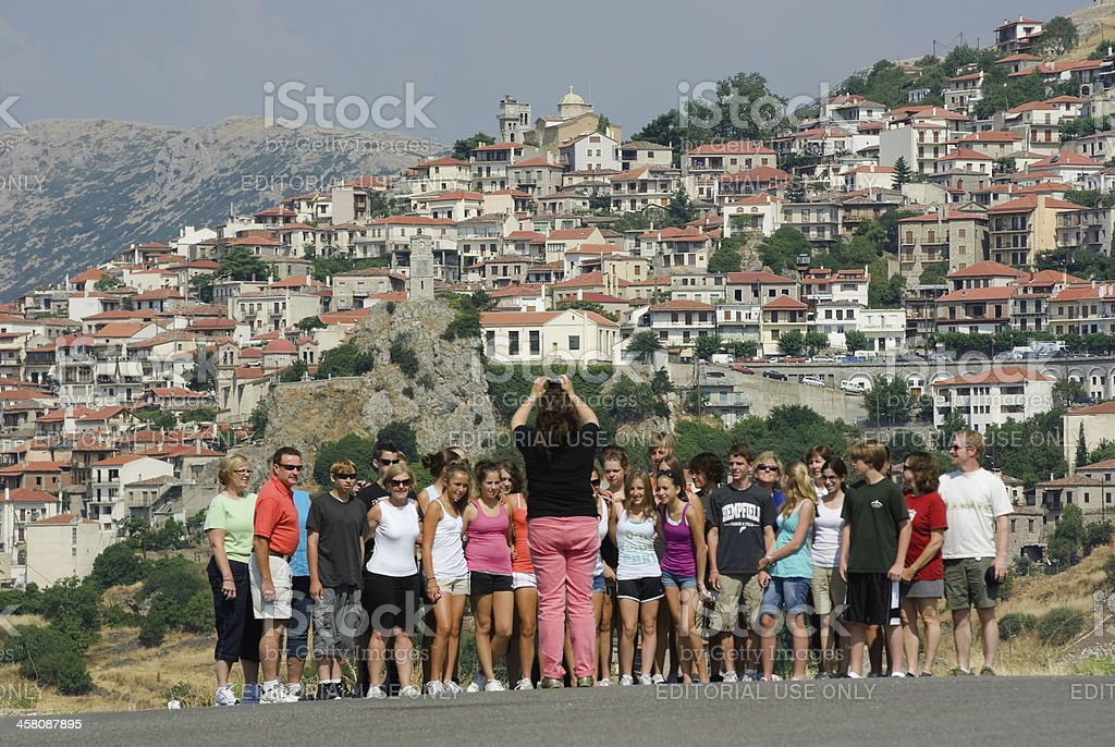 Tourist School Group Pose For A Photo royalty-free stock photo