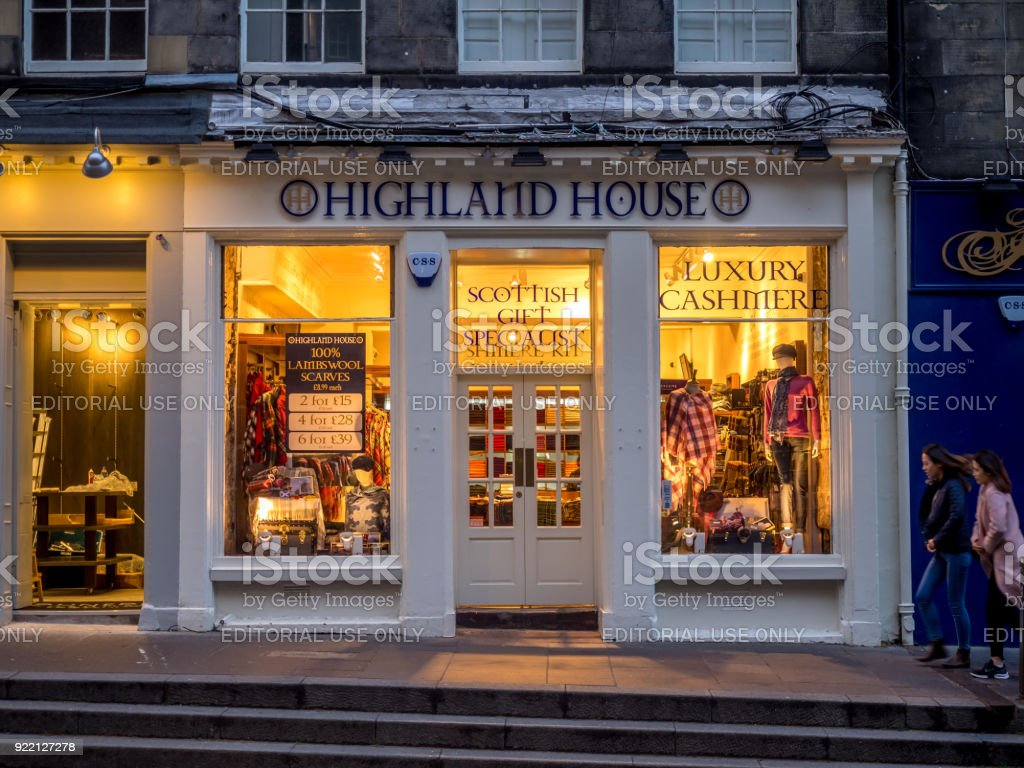 Tourist shops, Edinburgh - foto stock