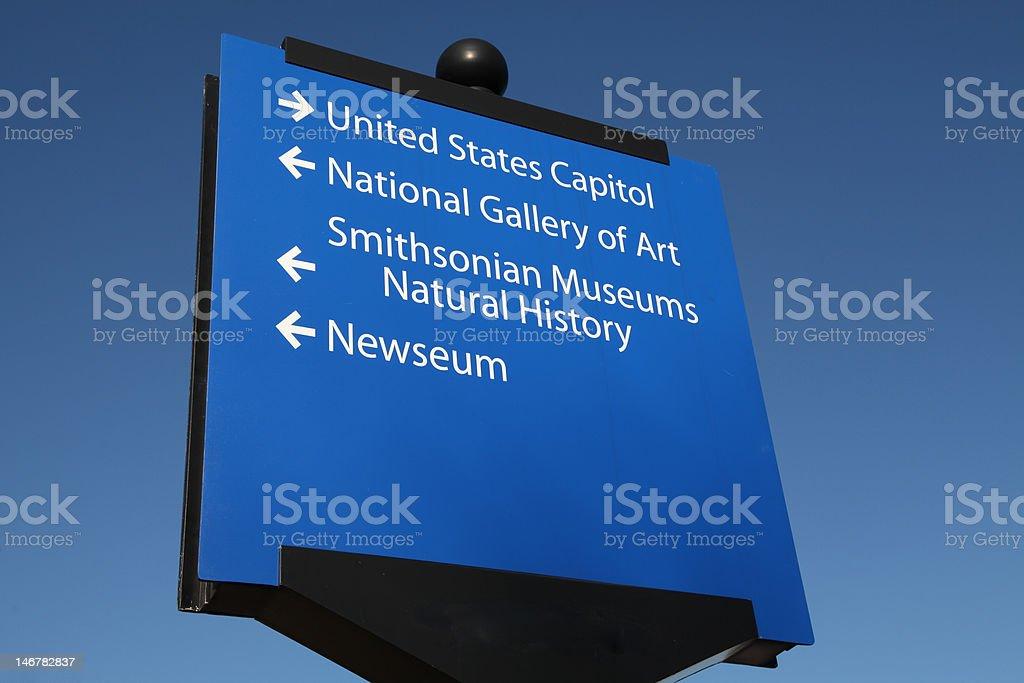 Tourist Sign, Washington D.C. stock photo