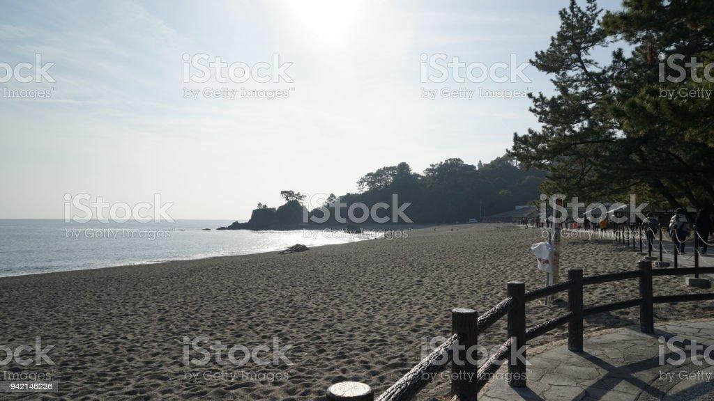 Turismo en Kochi-ken y playa Katsurahama - foto de stock