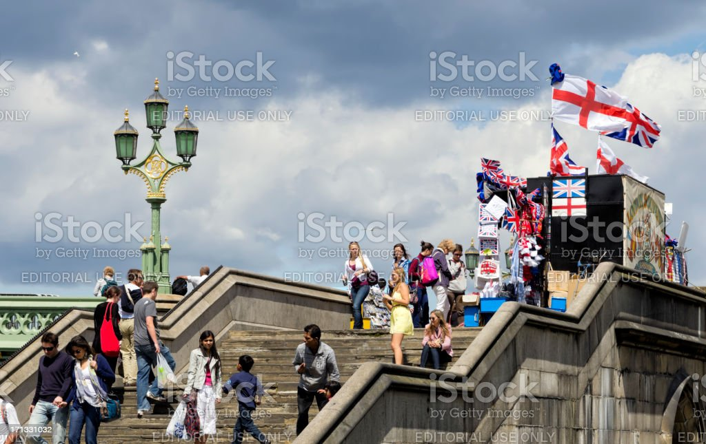 Tourist stall and steps royalty-free stock photo