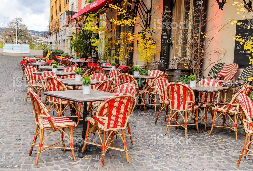 Calles de turismo en Budapest, Hungría. - foto de stock