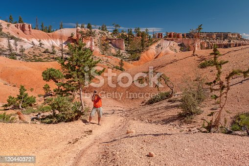 Tourist stunning and taking pictures in Bryce Canyon National Park, Utah, USA ,Nikon D3x