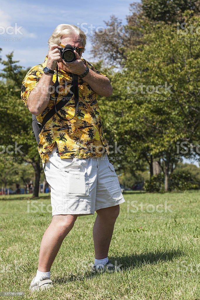 Tourist Takes Photo stock photo