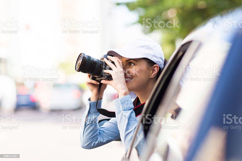 tourist taking pictures stock photo