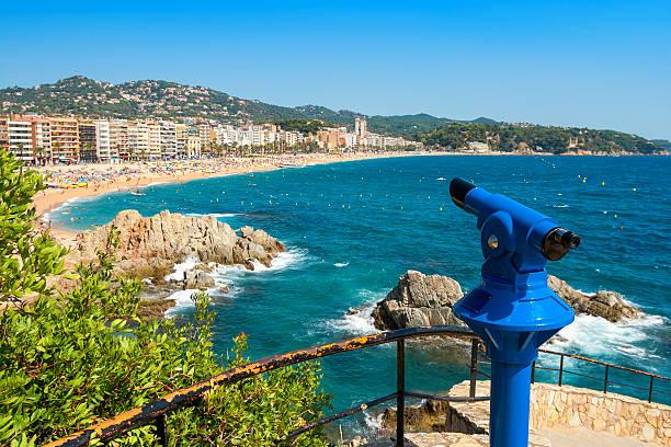 Tourist telescope. Lloret de Mar. Spain stock photo