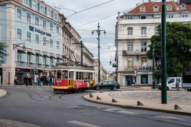 Tourist Tram, Lisbon, Portugal stock photo