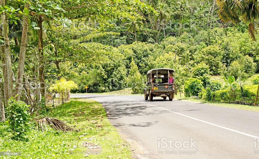 Tourist Truck Moorea royalty-free stock photo