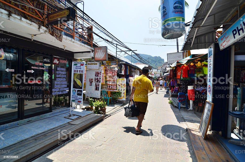 観光客の訪問の小さな touristic ヴィラージュピピアイランド ロイヤリティフリーストックフォト