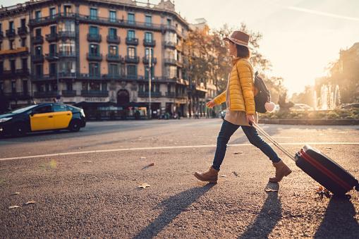 Tourist visiting Barcelona