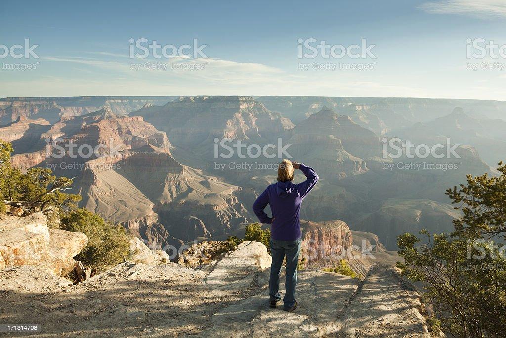 Tourist Visiting Grand Canyon stock photo