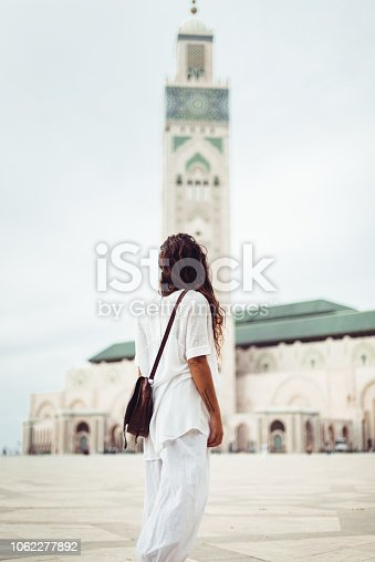tourist woman in casablanca - morocco