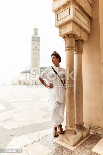 tourist woman in casablanca - morocco